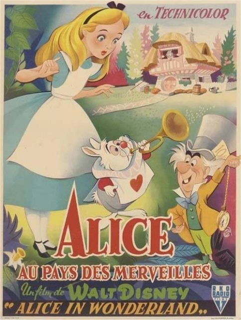 Affiche Alice au pays des merveilles Disney Poster Wonderland