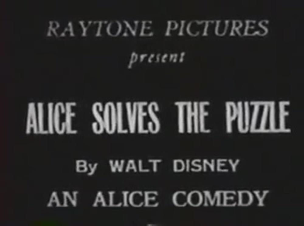 affiche poster alice comedies solves puzzle disney