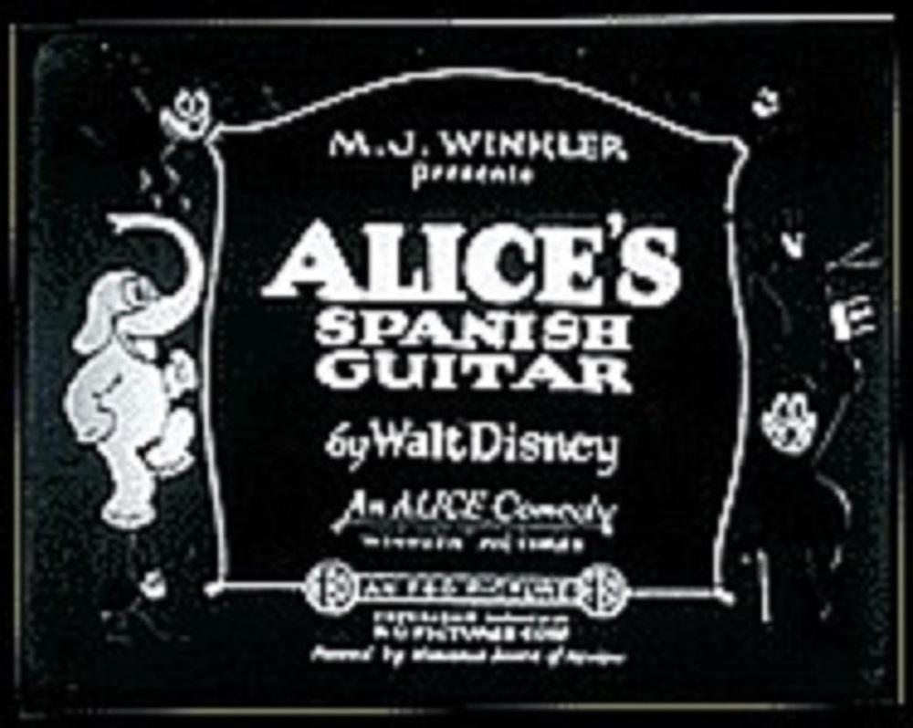 affiche poster alice spanish guitar disney comedies