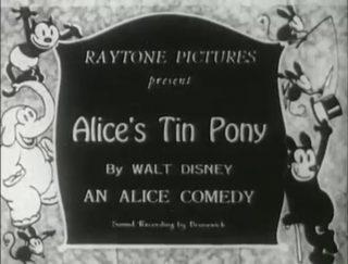 affiche poster alice tin pony disney comedies