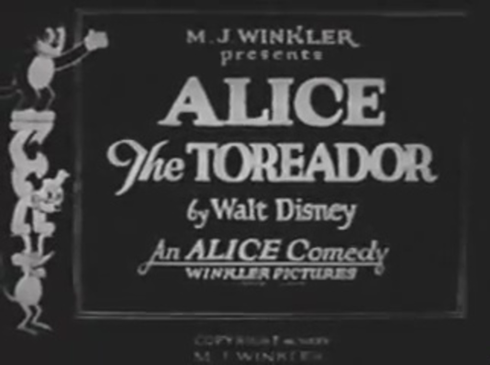 affiche poster alice comedies toreador disney