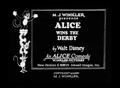 affiche poster alice wins derby comedies disney
