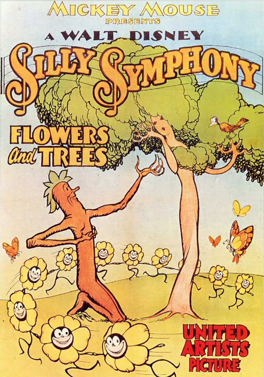 affiche poster flowers trees arbres fleurs disney silly symphony