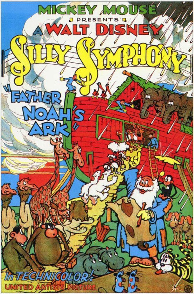 affiche poster noé arche ark father disney silly symphony