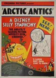 affiche poster artic antics disney silly symphony