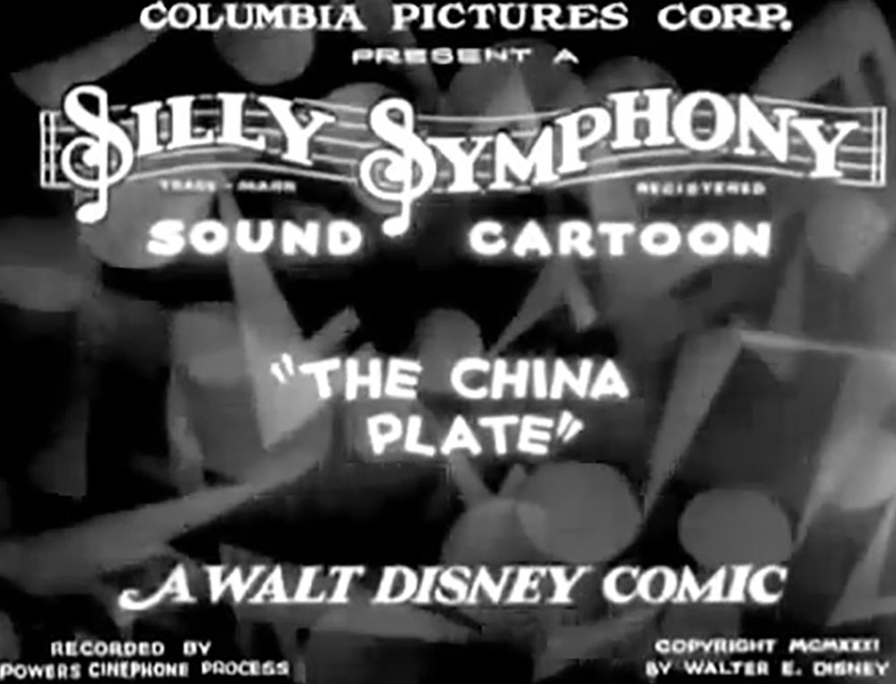 affiche poster assiette porcelaine china plate disney silly symphony