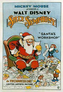 affiche poster atelier pere noel santa workshop disney silly symphony