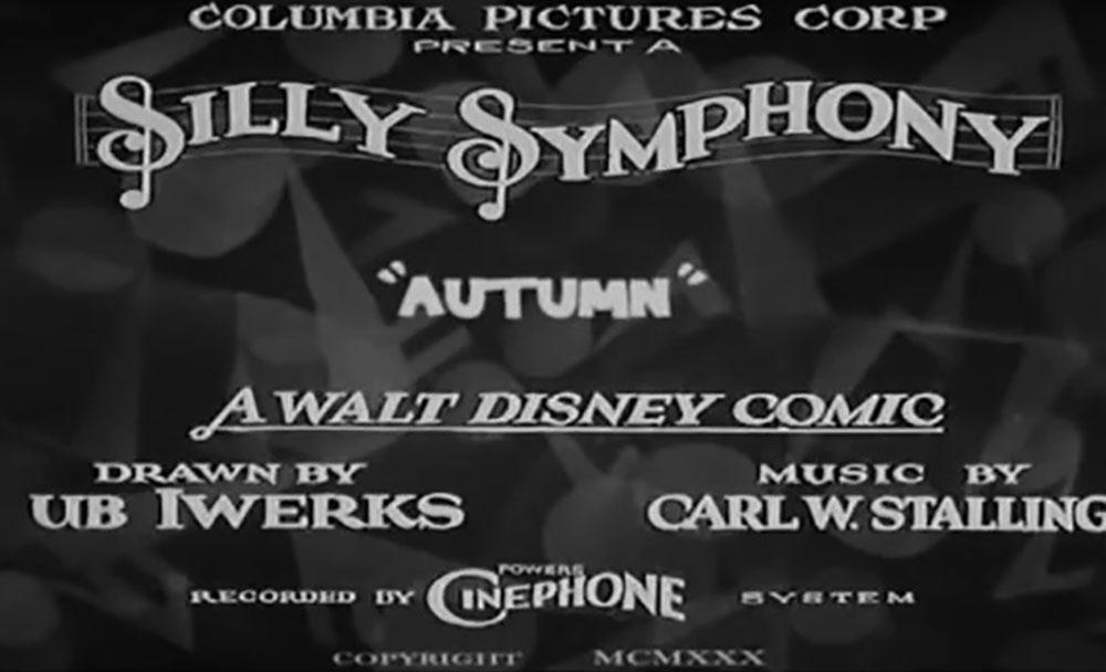 affiche poster automne autumn silly symphony disney