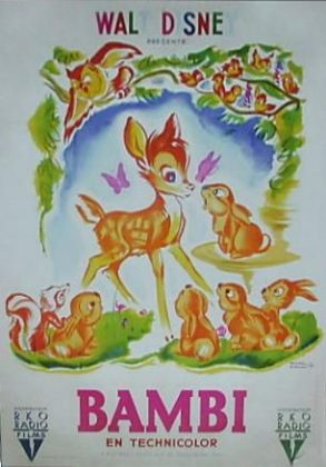 Affiche Bambi Disney Poster