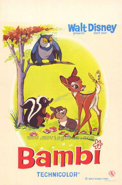 Affiche Bambi Disney Poster