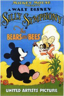 affiche poster bears bees disney silly symphony
