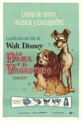 Affiche La belle et le clochard Disney Poster Lady and the tramp