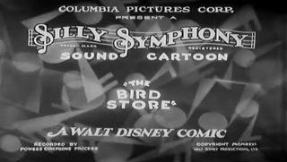 affiche poster bird store disney silly symphony