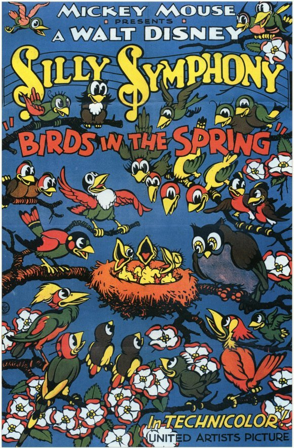 affiche poster birds spring disney silly symphony