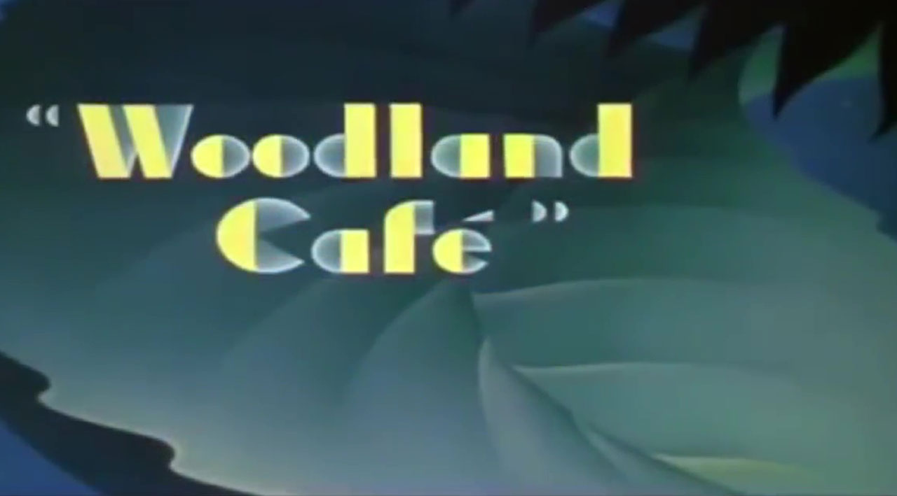 affiche poster cabaret nuit woodland cafe disney silly symphony