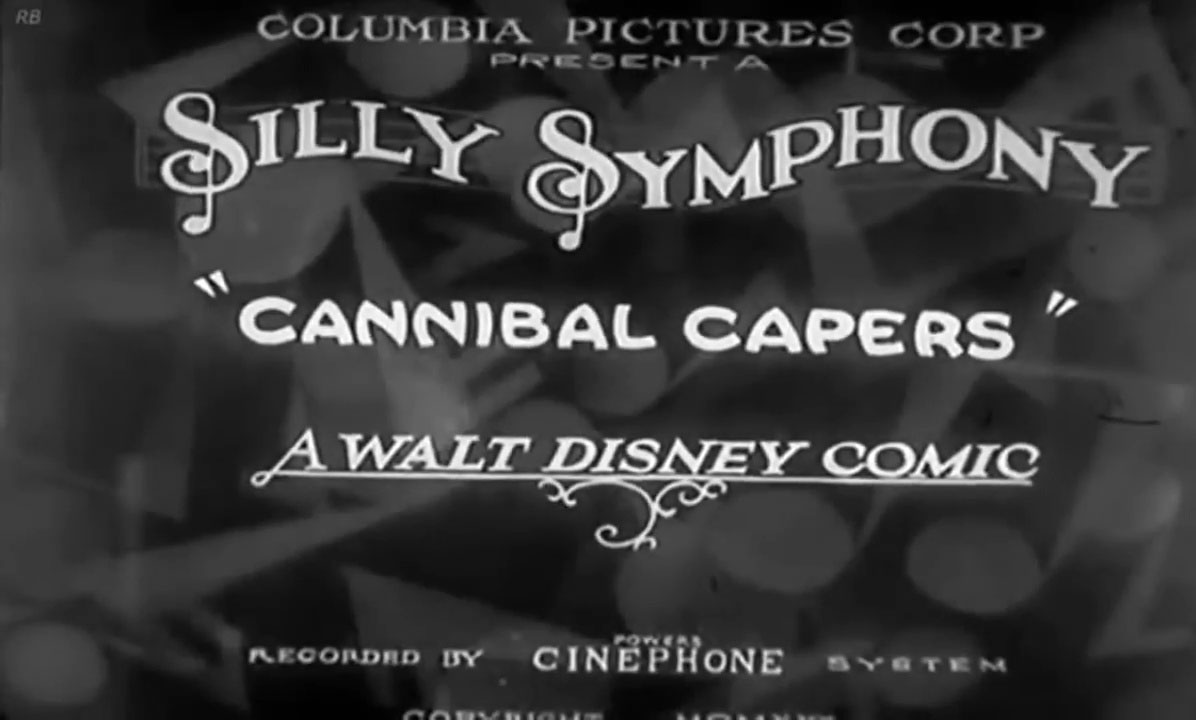 affiche poster cannibal capers disney silly symphony