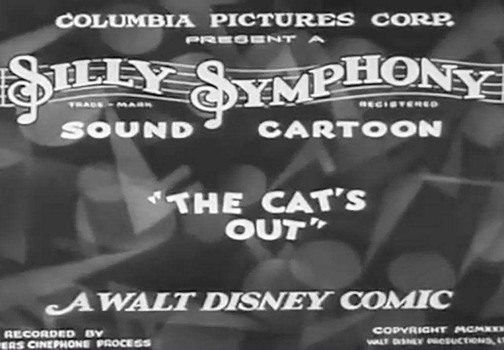 affiche poster cat out nightmare disney silly symphony