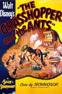 affiche poster cigale fourmi grasshopper ants disney silly symphony