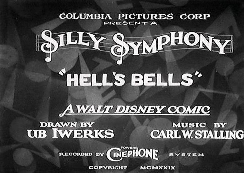 affiche poster cloches enfer hell bells silly symphony disney
