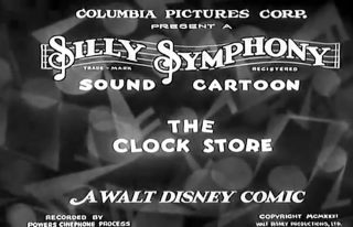 affiche poster clock store disney silly symphony