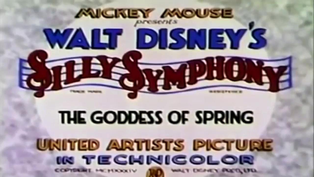 affiche poster déesse printemps goddess spring disney silly symphony