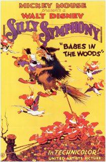 affiche poster enfants bois hansel gretel disney silly symphony