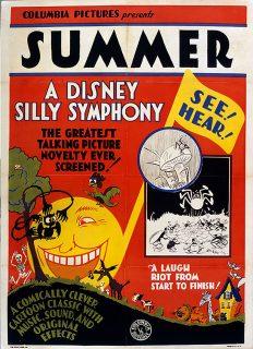 affiche poster été summer silly symphony disney