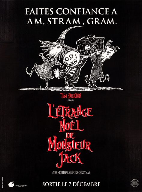 Affiche Poster étrange noel monsieur jack nightmare before christmas disney touchstone