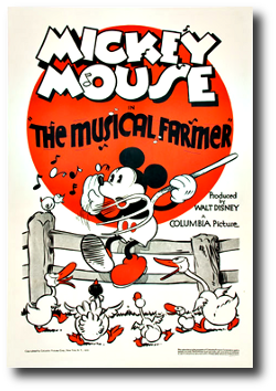 affiche fermier musicien walt disney animation studios poster musical farmer