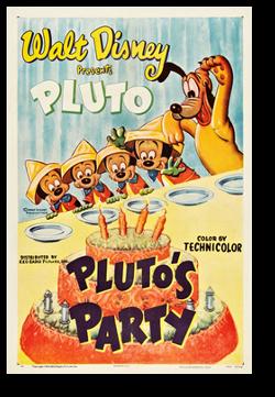affiche fete pluto walt disney animation studios poster pluto party