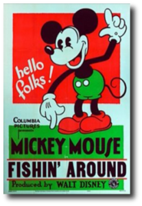 affiche fishin around walt disney animation studios poster