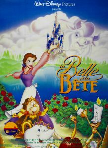 1991 disney affiche poster la belle et la bête beauty and the beast