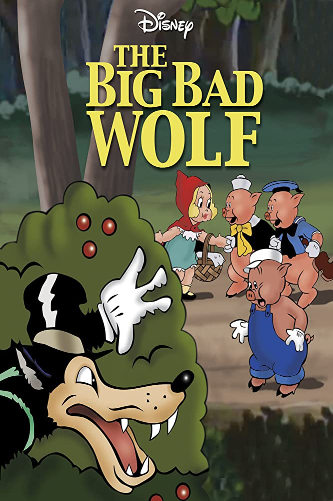 affiche poster grand méchant loup big bad wolf disney silly symphony