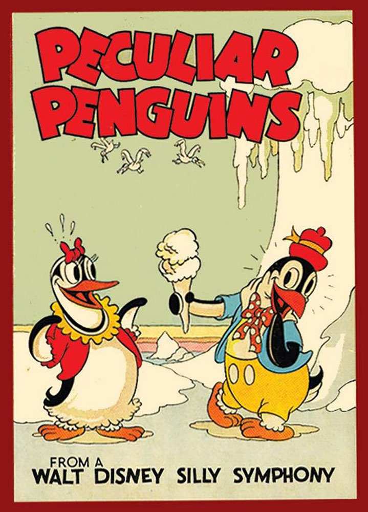 affiche poster histoire pingouins peliculiar penguins disney silly symphony