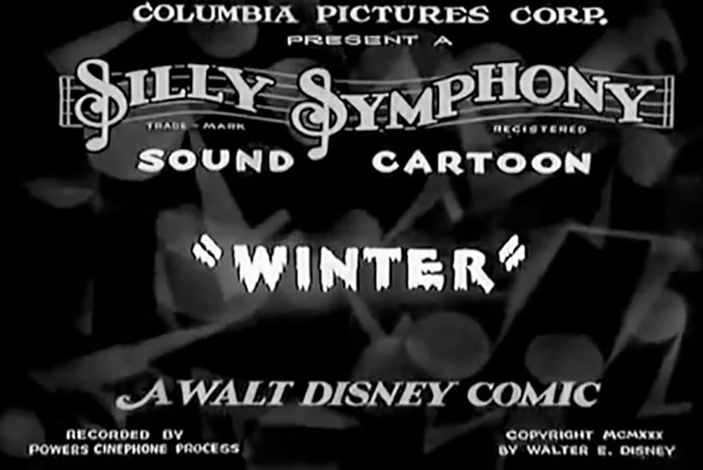affiche poster hiver winter disney silly symphony