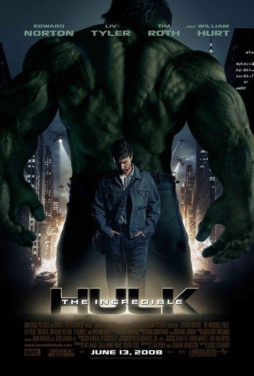 marvel studios affiche incredible hulk poster