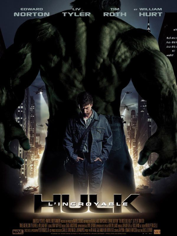 Affiche Poster Incroyable Hulk Incredible Disney Marvel