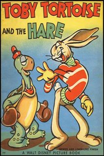 affiche poster lièvre tortue tortoise hare disney silly symphony