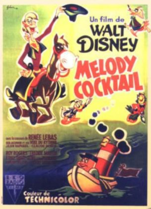 Affiche Mélodie cocktail Disney Poster Melody time