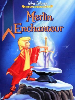 Affiche Merlin l'enchanteur Disney Poster The sword in the stone