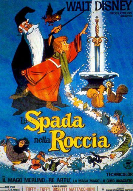Affiche Merlin l'enchanteur Disney Poster The sword in the stone