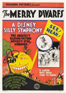 affiche poster merry dwarfs disney silly symphony