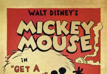 walt disney animation affiche mickey a cheval get a horse poster