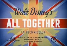 Walt Disney Animation poster affiche mickey all together