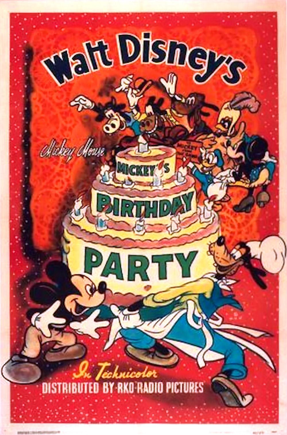 affiche mickey anniversaire Walt Disney Animation poster