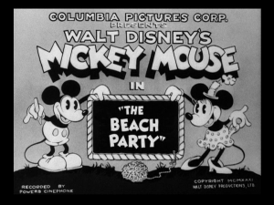 affiche mickey beach party Walt Disney Animation poster