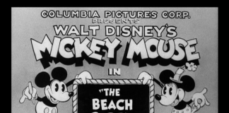 affiche mickey beach party Walt Disney Animation poster