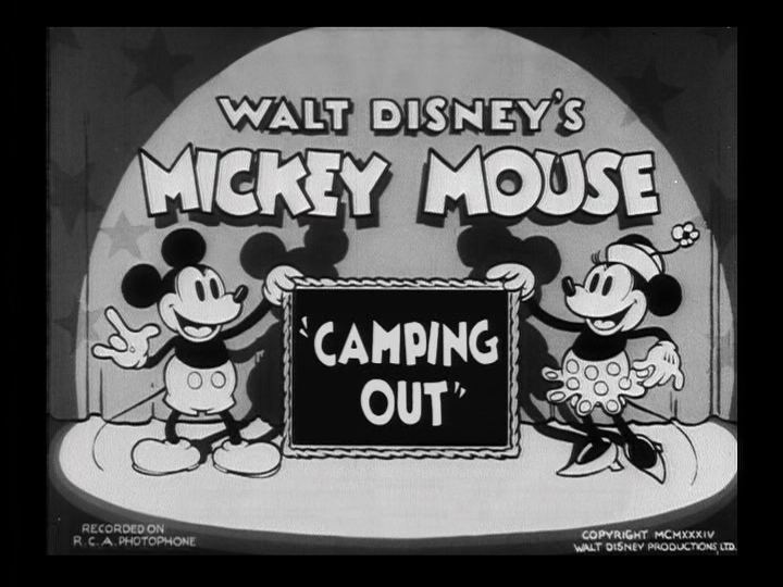 affiche mickey camping Walt Disney Animation poster