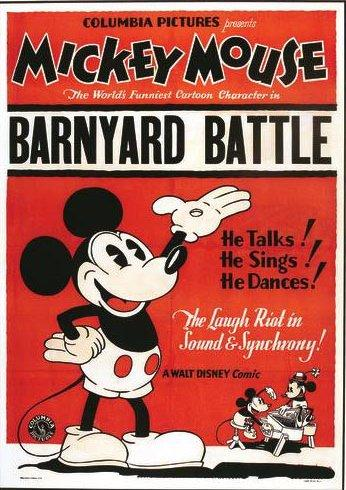 affiche mickey champ bataille Walt Disney Animation poster