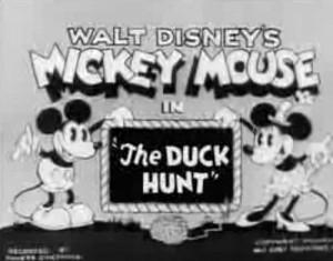 affiche mickey chasse canard Walt Disney Animation poster